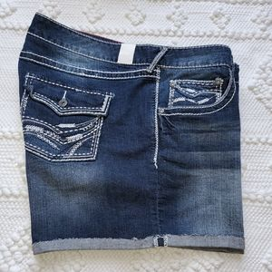 Maurices Distressed Cuffed Shorts